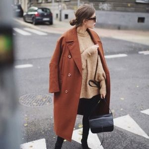 Vintage | Caramel Double Breasted Peacoat